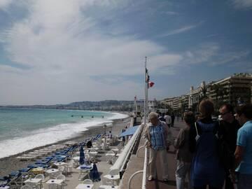 und an den Stränden von Cannes