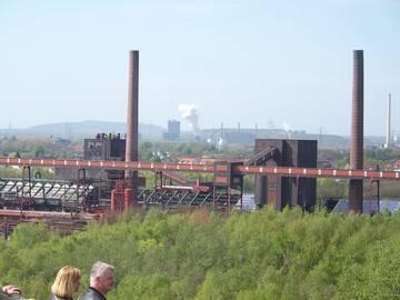 Vom Dach der Wäscherei hatten wir einen grandiosen Ausblick über das Ruhrgebiet
